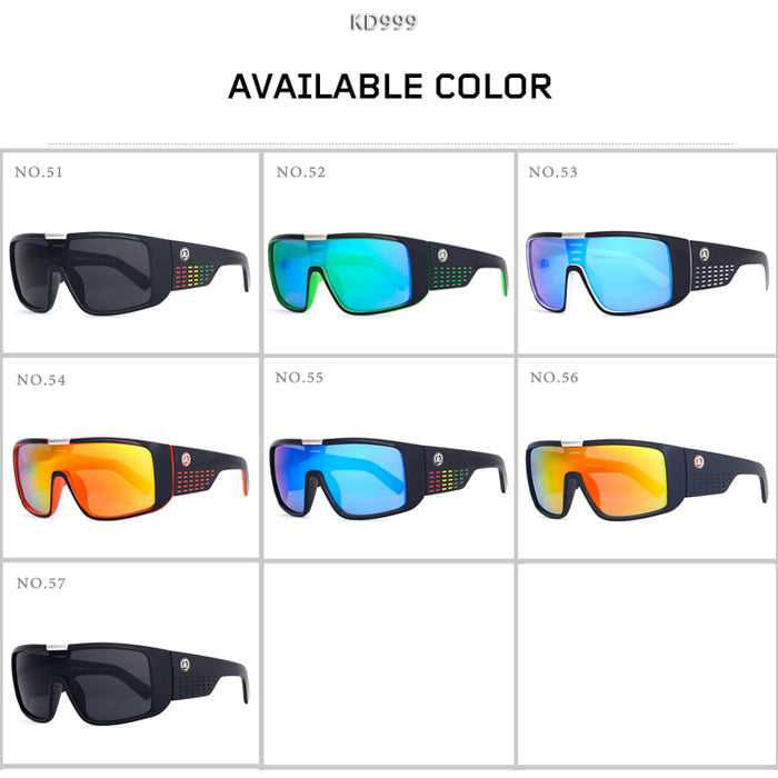 KDEAM Brand Sunglasses Men Sport Goggle Sun Glasses Windproof Shield Frame Reflective Coating Original case 7 colors KD999