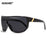 KDEAM Mens Goggle Big size Sport Sunglasses Flat top Frame Women Sun Glasses Windproof Glasses UV400 4 colors with Case KD100