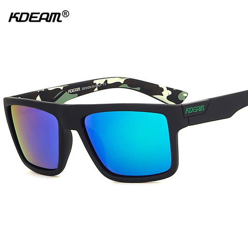 9e3917a72bc KDEAM The Main Polarized Sunglasses Sport For Men Camouflage Outdoor  Goggles Reflective Polarizing Sun Glasses With