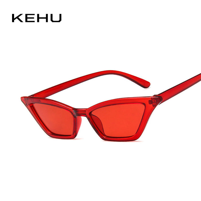 KEHU Women Cat Eye Sunglasses Yellow Brand Sun Glasses Designer Design Sunglasses Women Fashion Trend Glasses UV400 K9641