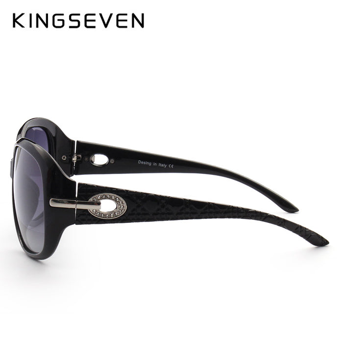 KINGSEVEN Gradient Sunglasses Women Polarized Elegant Rhinestone Ladies Designer Sun Glasses Eyewear Accessories Oculos De Sol