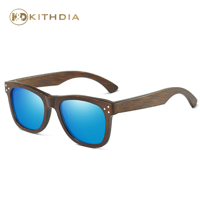 KITHDIA Brand Designer Men Wood Bamboo Sunglasses New Polarized Wood Sun Glasses Wood Box Retro Vintage Eyewear #KD028