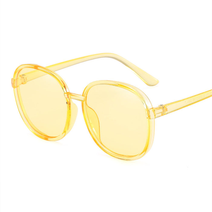 KUJUNY Brand Glasses Ladies Round Frame Sunglasses Male Female Transparent Eyewears Retro Pink Sun Glasses Men Eyewears