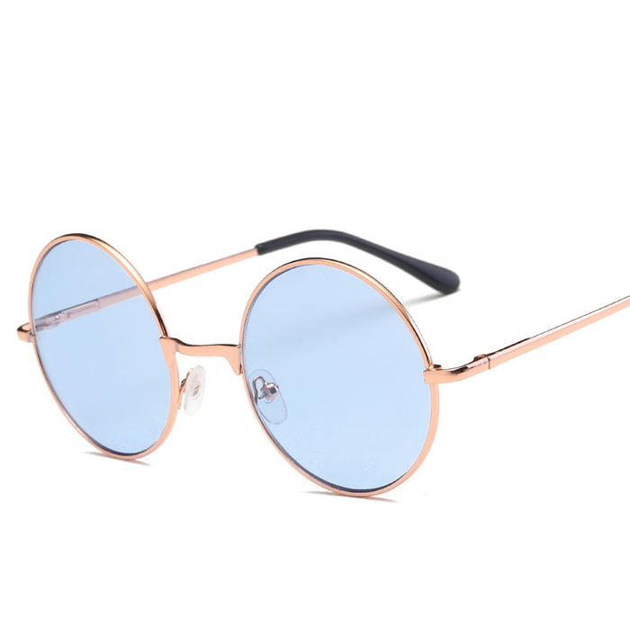 KUJUNY Retro Prince Sunglasses John Lennon Steampunk Round Leisure Sun Glasses Tourism Man Women Sun Glasses Steam Punk Goggles