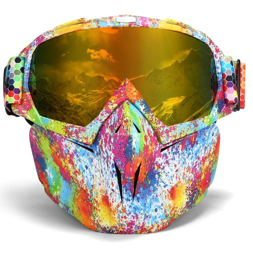UV 400 Double lens Snowboard Goggles Anti-fog Ski Glasses Snow Goggles Windproof Skiing Snowboarding Goggles Ski Mask