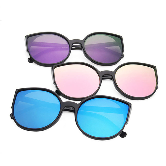 Kaleidoscope Glasses Cat Eye Sunglasses Women Coating Reflective Mirror Sun Glasses Ladies Plastic Vintage UV400 Goggles