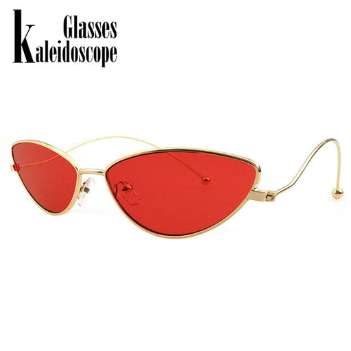 Kaleidoscope Glasses Metal Frame Cat Eye Sunglasses Men Women Retro Small Cateye 90s Sun Glasses Brand Designer Goggle UV400
