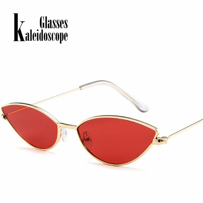 00707edaa Kaleidoscope Glasses Women Cat Eye Sunglasses Cute Sexy Brand Designer  Summer Retro Small Frame Black Red