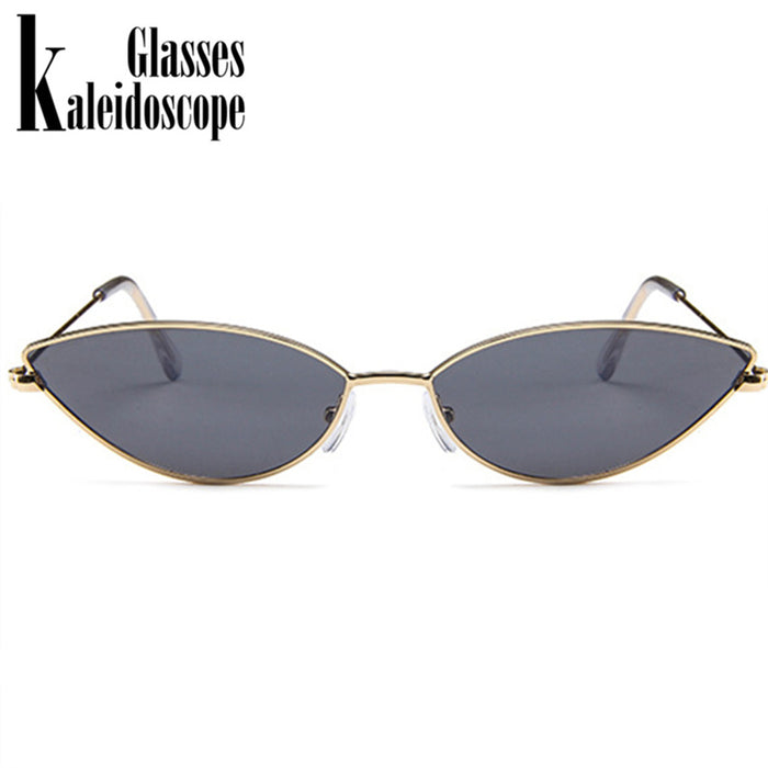 Kaleidoscope Glasses Women Cat Eye Sunglasses Cute Sexy Brand Designer Summer Retro Small Frame Black Red Cateye Sun Glasses