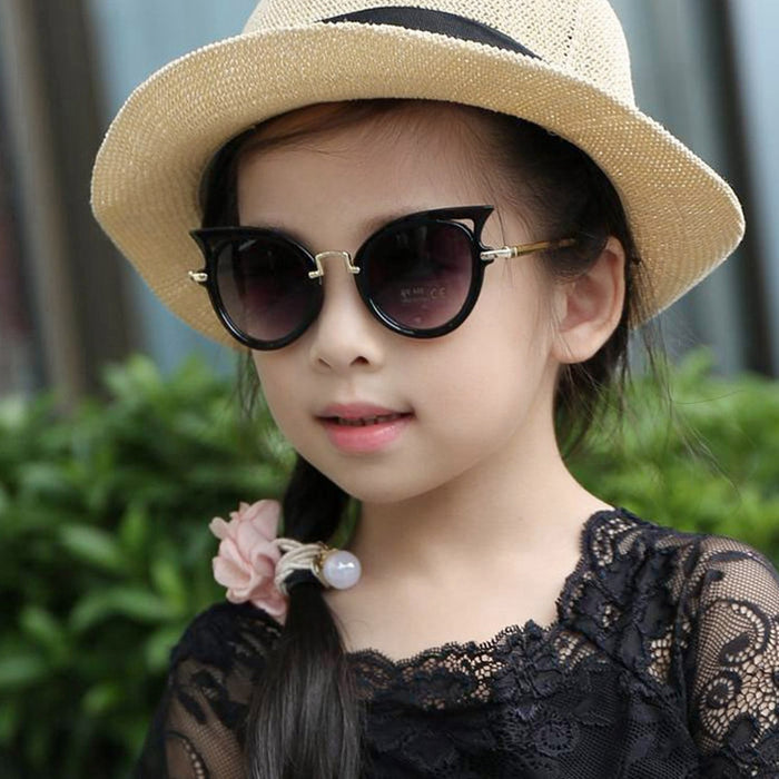 LABULAKA Fashion Children Cat Eye Sunglasses Summer Boys Girls Anti-UV Shades Kids Baby Sun glasses Infant Oculos Goggles
