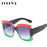 LDOFWJ Catwalk Women Square Luxury Sunglasses Oversize Unique Clear Female Sun glasses Eyeglasses Big Brand Designer UV400