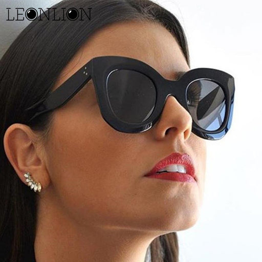 LeonLion Leopard Cat Eye Sunglasses Women Designer Luxury Man/Women Sun Glasses Classic Vintage UV400 Outdoor Eyewear