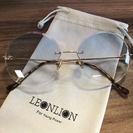 59fe90134b LeonLion 2018 Metal Goggle Rimless Sunglasses Women Ocean Lens Classic  Brand Designer Men Women HD