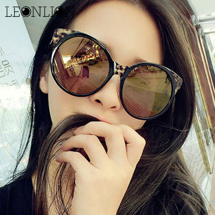 LeonLion Retro Luxury Sunglasses Women Brand Designer Classic Original Round Sun Glasses Ladies UV400 Oculos De Sol Gafas