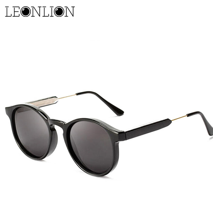 LeonLion Vintage Round Sunglasses Women/Men Classic Outdoor Oculos De Sol Gafas UV400 Brand Designer Driving Sun Glasses