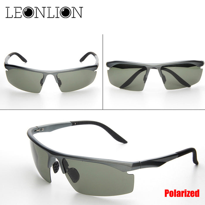 LeonLion Polarized Sunglasses Brand Designer Classic Metal Sun Glasses Male Outdoor Adjustable Travel Driving Oculos De Sol