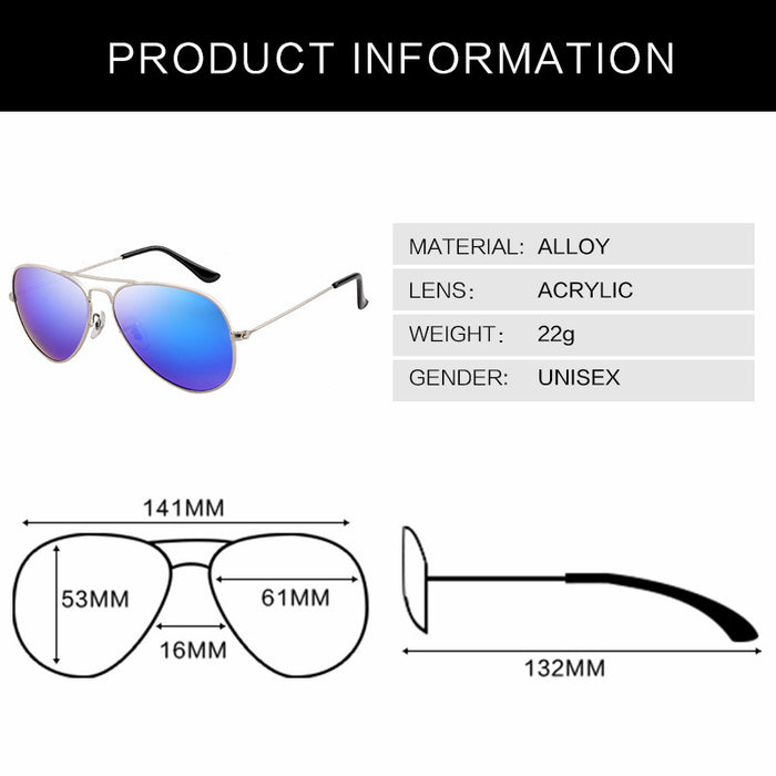 Luxury Pilot Sunglasses Women Men Brand Designer Points Sun Glasses Women Female Male Ladies Sunglass Vintage Mirror Sunglass