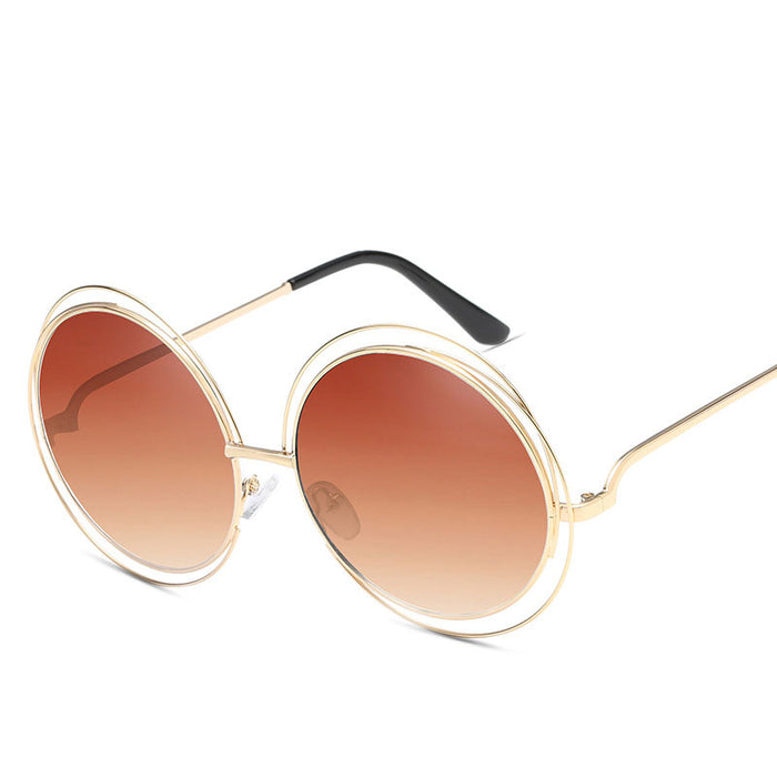 dcdf185edf Luxury Round Sunglasses Women Brand Designer 2019 Vintage Retro Oversized  Sunglass Female Sun Glasses For Women