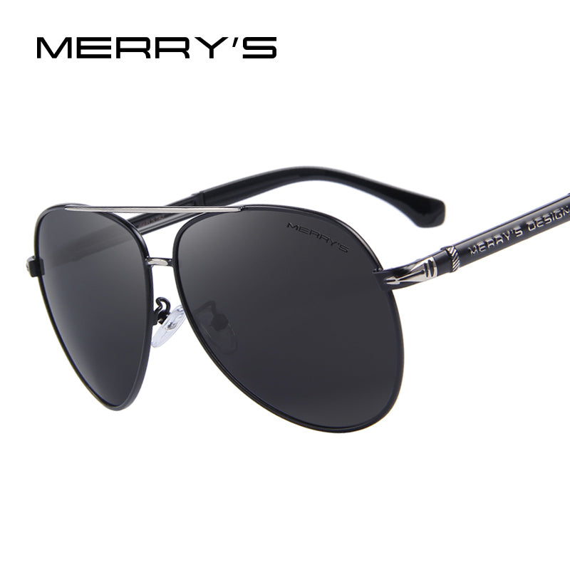 MERRY'S Design Men Classic Brand Sunglasses HD Polarized Aluminum Sun glasses Luxury Shades UV400 S'8728