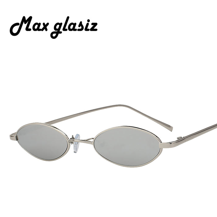 184927a59777 Max Glasiz Hot Sales Oval Sunglasses Metal Frame Men And Women Small Size Sunglasses  Female Vintage