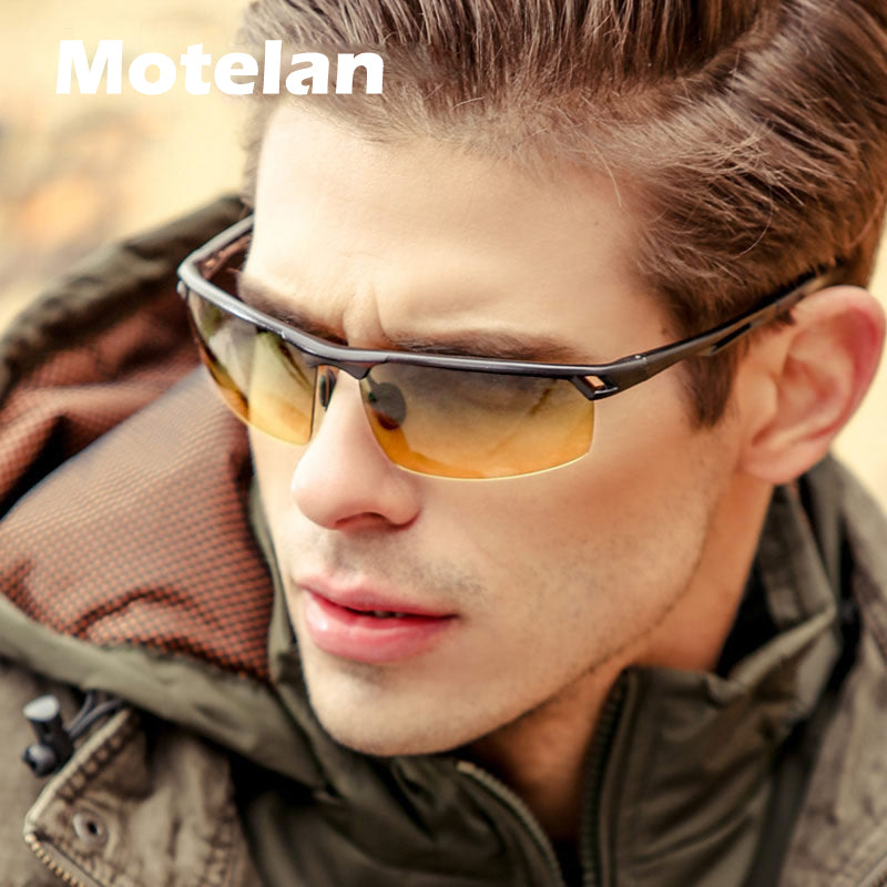 Men Polarized Aluminum Magnesium Day Night Driver Sun Glasses New Top Quality Male Goggles Sunglasses Night Vision Eyewear