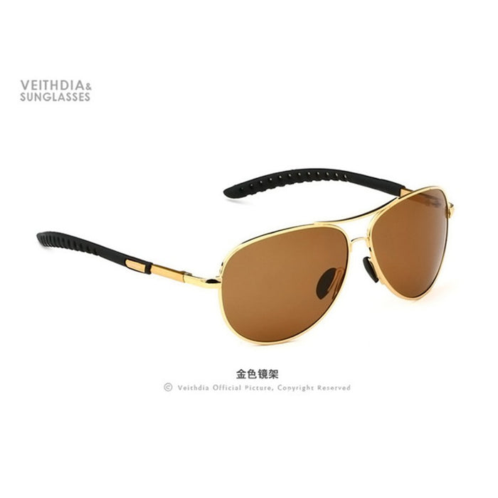 Men Polarized Sunglasses Anti-UV Driving Outdoor Goggle Eyewear Sun Glasses Oculos De Sol VEITHDIA Brand Designer JY9