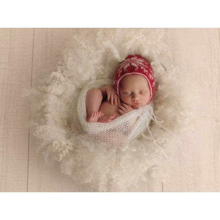 Mohair Soft Baby Photography Props Newborn Photograph Wraps Infant Bebe Handmade Scarf 40*60cm Swaddling Accessories 12Colors
