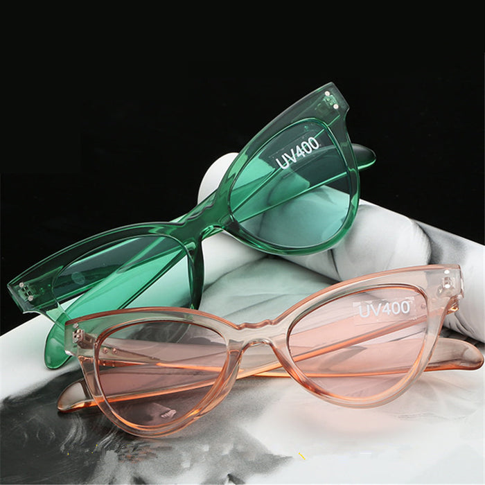 NYWOOH Brand Sunglasses Women Cat Eye Sun Glasses Female Candy Lens UV400 Eyewear Female Vintage Eyeglasses
