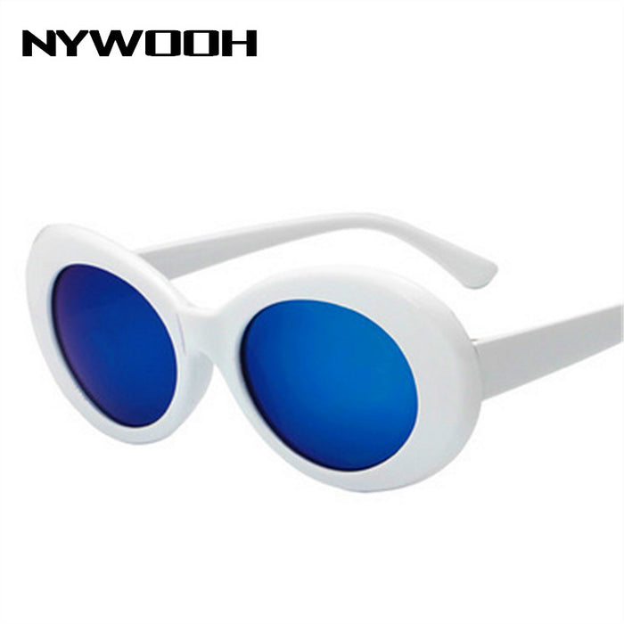 96101cbc7bdb9 NYWOOH Clout Goggles Kurt Cobain Glasses Men Women Retro Brand Designer  Oval Sunglasses Female Male NIRVANA