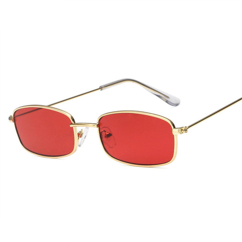 NYWOOH Red Sunglasses Women Small Rectangle Sun Glasses for Ladies Brand Designer Small Size Vintage Eyewear UV400
