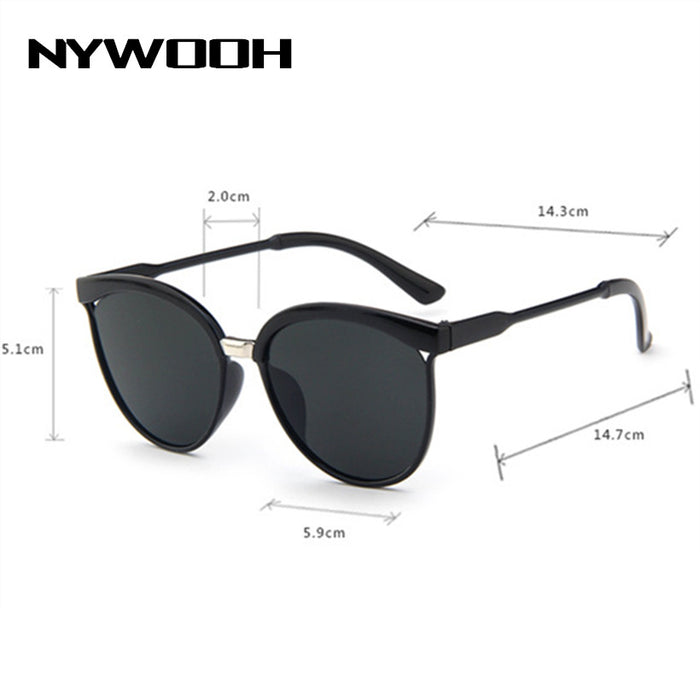 b75e1e2c06 NYWOOH Vintage Cat Eye Sunglasses Women Luxury Mirror Sun Glasses UV400 Men  Classic Brand Plastic Sunglass