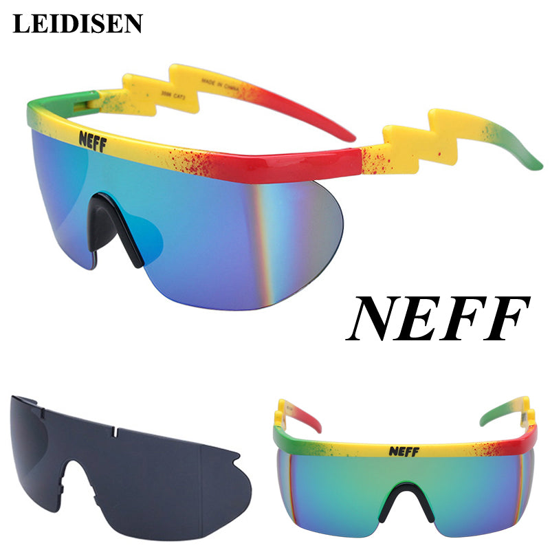 New Fashion Brand Neff Sunglasses Men/Women Oculos De Sol Vintage Sun Glasses Coating Eyewear Driving 2 Lens Gafas Feminino