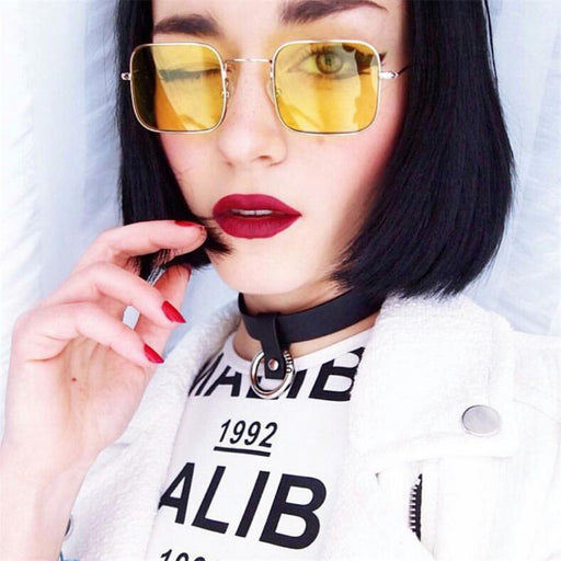 New Fashion Vintage Sunglasses Women Men Brand Designer Retro Sunglass Points Sun Glasses Women Female Male Lady Sunglass Square