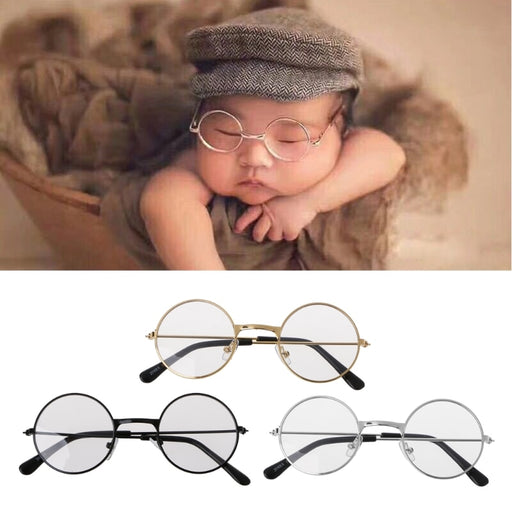 Newborn Infants Photography Props Flat Glasses Baby Studio Shooting Photo Prop Photo Accessories-M20