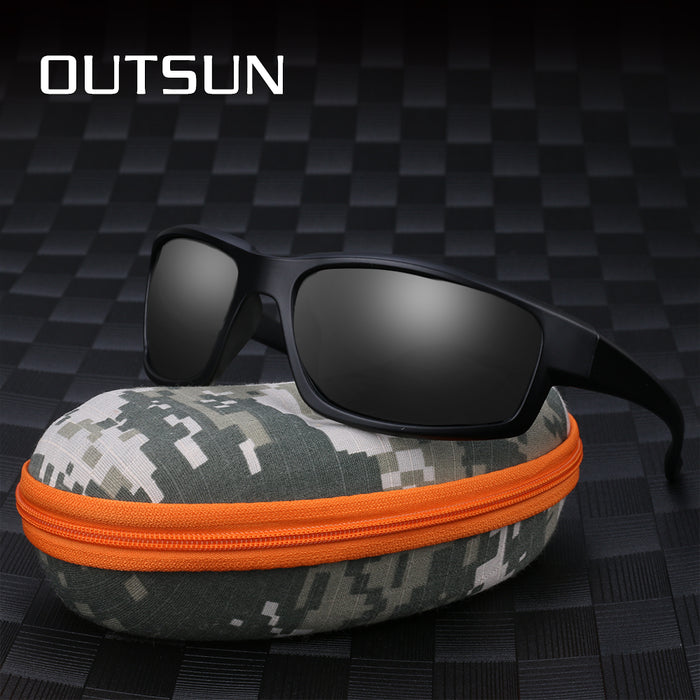 OUTSUN Hot Fashion Out Door Sun Glasses HD Polarized Sunglasses Men Brand Designer Original Oculos De Sol Masculino