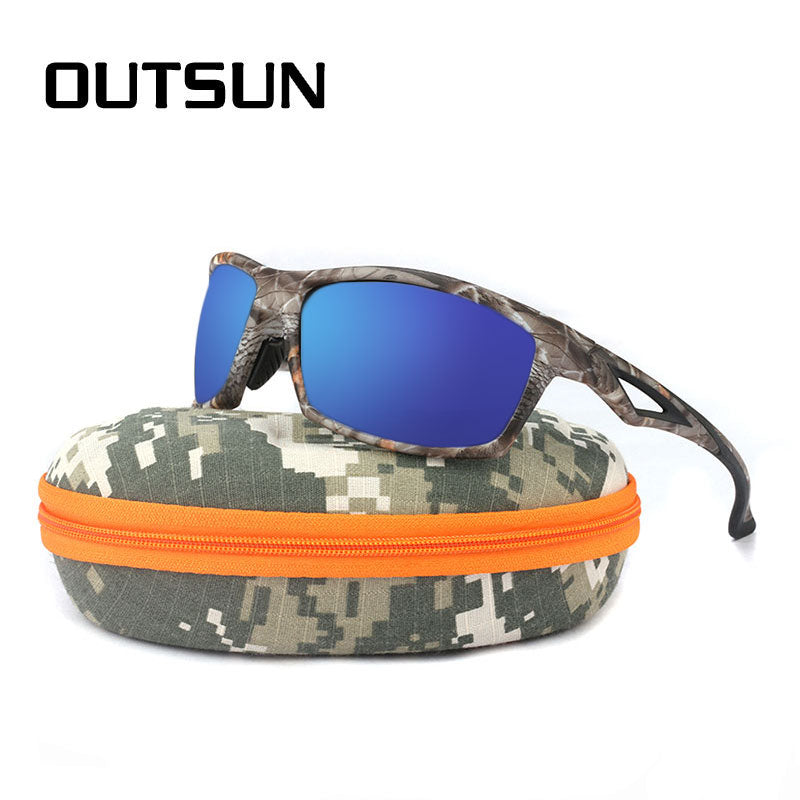 5db701c2dc98 OUTSUN Men Sunglasses Night Vision Polarized TR90 Camo Frame Brand Designer  Male Polaroid Sun Glasses Camouflage
