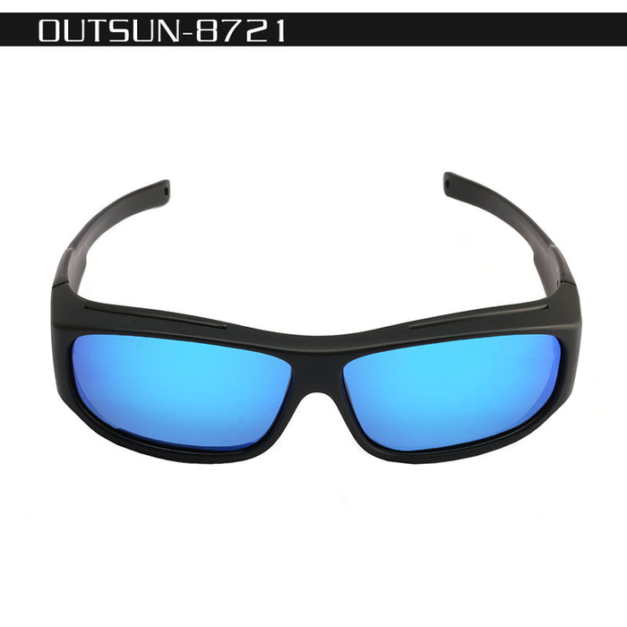3dd9387638 OUTSUN Polarized Fit Over Sunglasses Fishing Sun Glasses Men Women  LensCovers glasses Wear Over Prescription Glasses