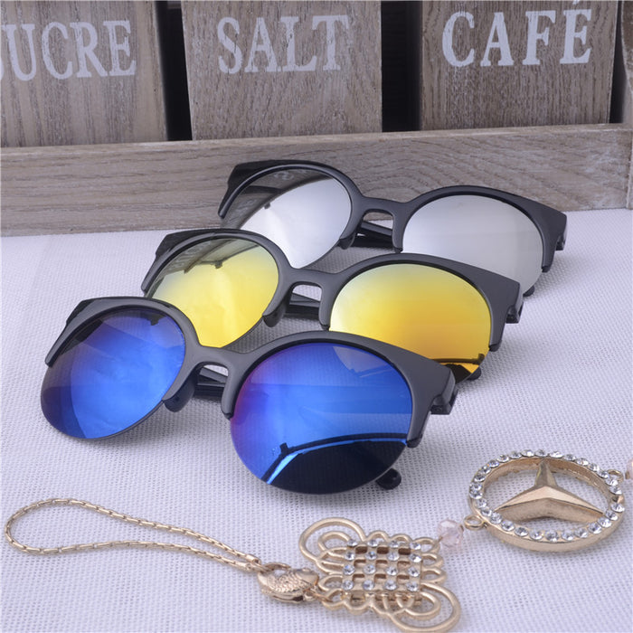 Oculos De Sol Feminino New Fashion Retro Designer Super Round Circle Glasses Cat Eye Women's Sunglasses Glasses Goggles
