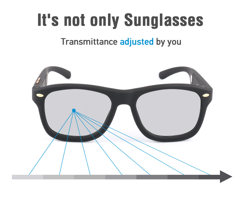 Original Design Magic LCD Sunglasses Men Polarized Sun Glasses Adjustable Transmittance Darkness with Liquid Crystal Lenses 6716