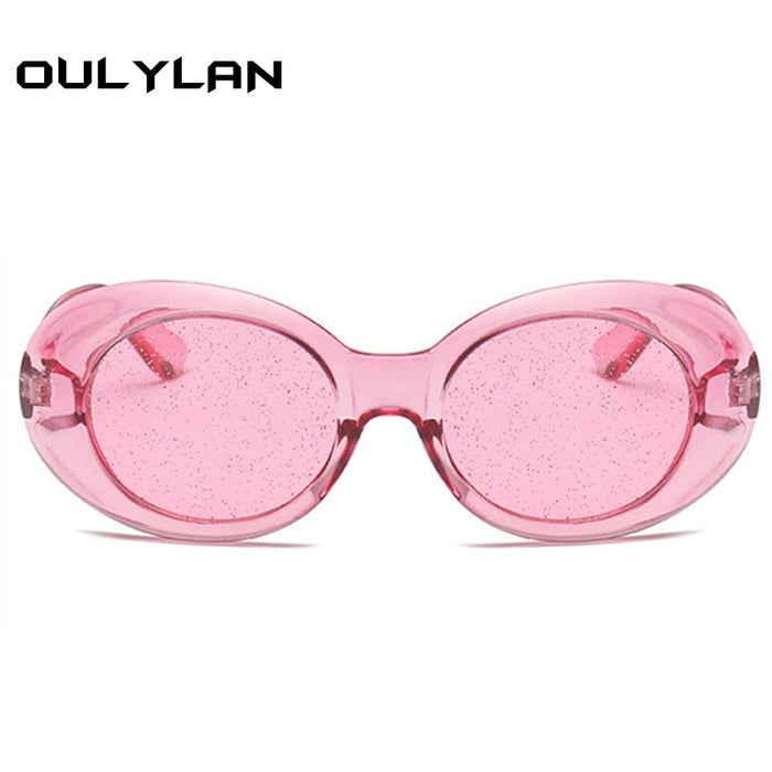 f03b7473a266d Oulylan Clout Goggles Round Sunglasses Women Vintage Oval Transparent Frame  Sun Glasses Men NIRVANA Kurt Cobain
