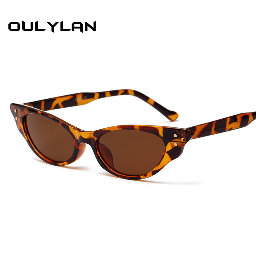 Oulylan Fashion Cat Eye 90s Sunglasses Women Brand Designer Retro Female Sun Glasses oculos de sol feminino UV400