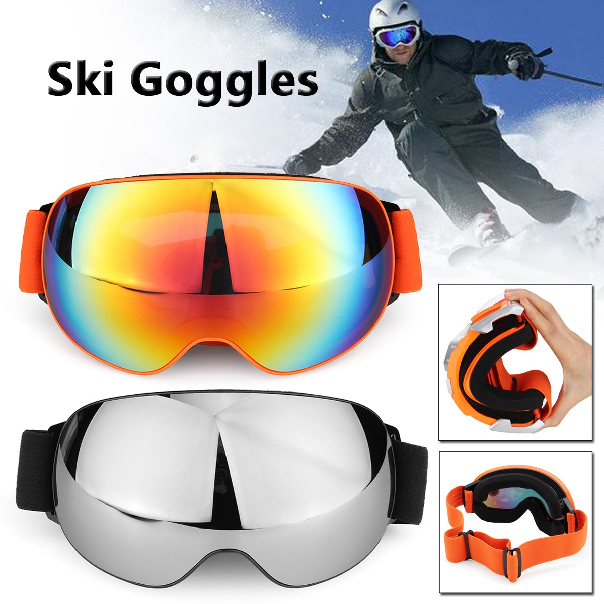 bb567386a0f Outdoor Sports Ski Goggles Men Women Double Layers UV Protection Anti- —  Mostly Shades
