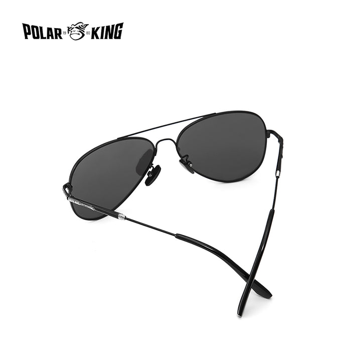 POLARKING Brand Double Bridge Mirror Polarized Sunglasses For Men Travel Fashion Designer Sun Glasses Unisex Driving Eyewear