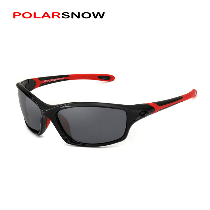 POLARSNOW Top Quality Polarized Sports Sunglasses For Men TR90+Rubber Male UV400 Driving Sun Glasses Vintage Oculos P8633