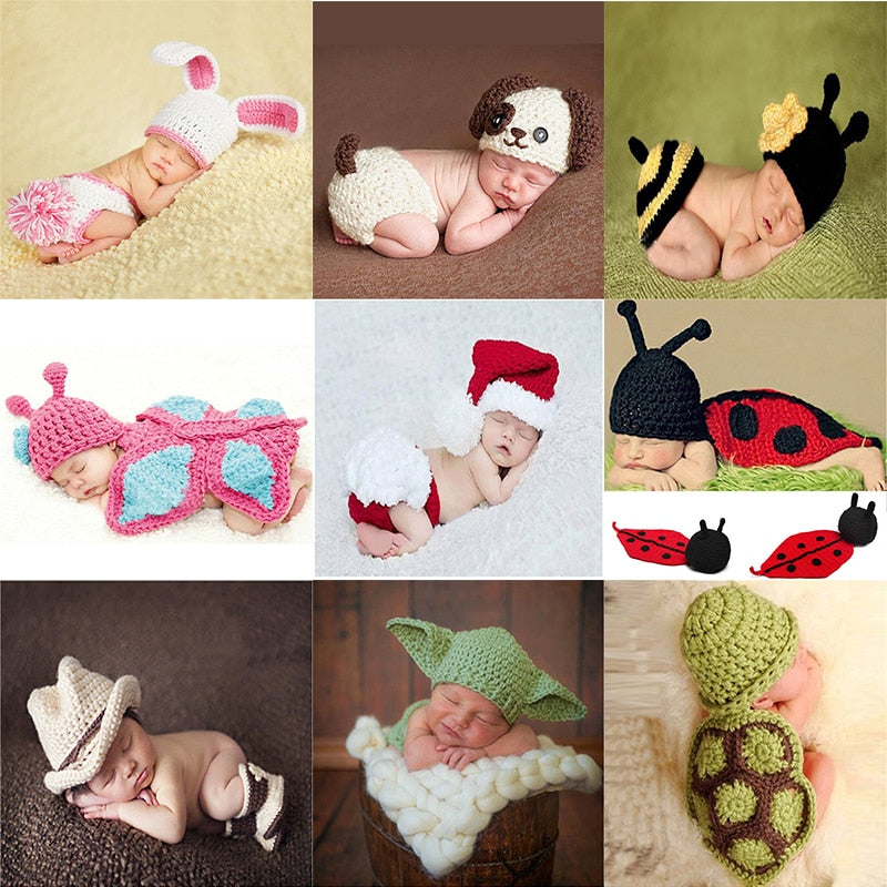 4eade5dcbfe Pants Hat Set Cute Baby Clothes Hand Made Knitting Soft Accessories For 0-6  Months