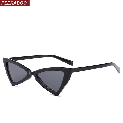 Peekaboo red triangle sunglasses women cat eye vintage black leopard cheap butterfly sun glasses female new year gift