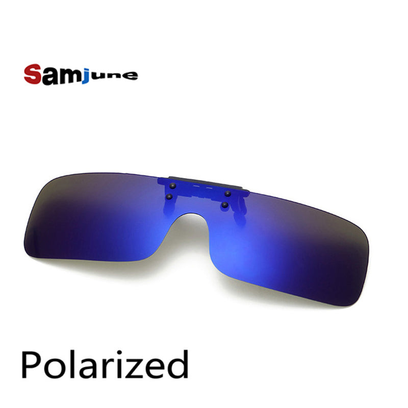 Polarized Clip on Sunglasses clip on glasses square Polaroid Lens Men Women mirror Sun Glasses Night Vision Driving car