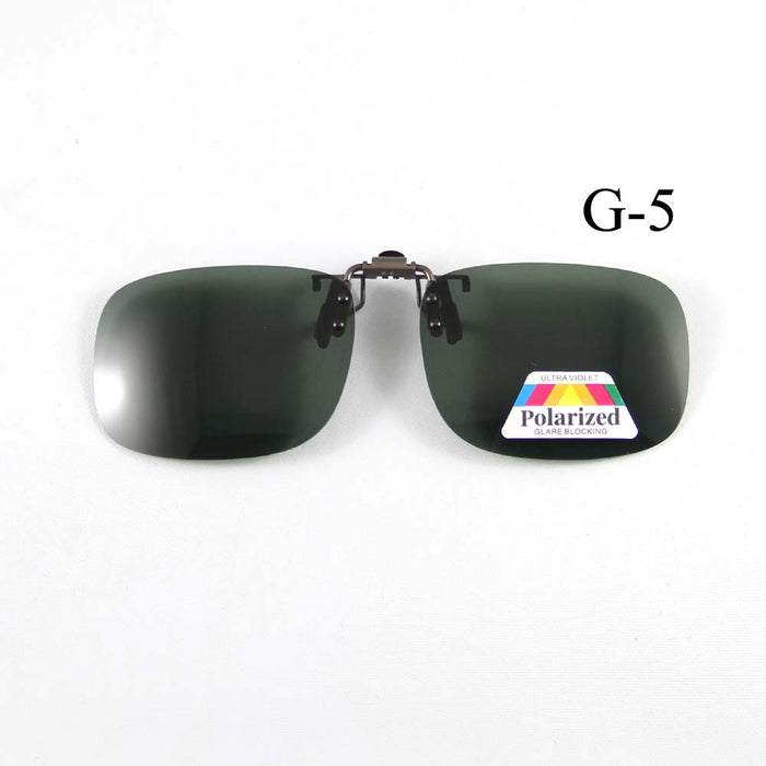 Polarized Sunglasses Clip-on Mater Bridge Can up Clip on Sunglasses Men Women Sun Glasses Eyeglasses Lens Aviate Driving Goggles
