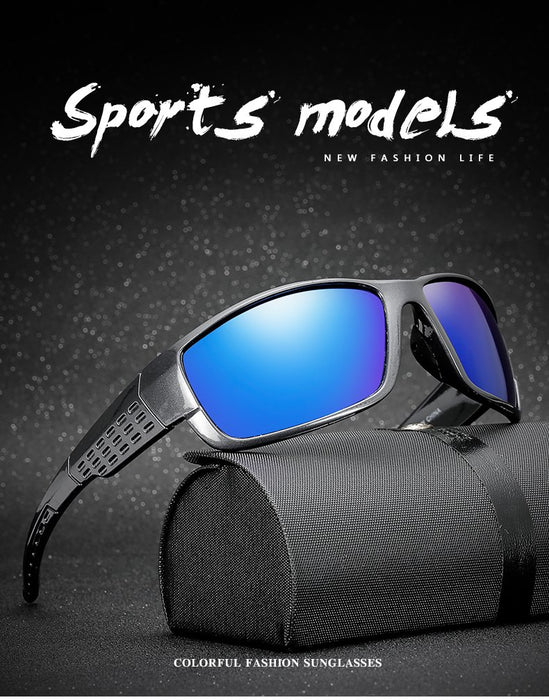 Men's Sunglasses Polarized Sunglasses For Men Vintage Mirror Coating Driver Anti-glare Sun Glasses 100% Uv400 Goggles Eyewears By Long Keeper