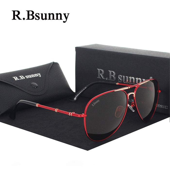 R.Bsunny R1616 Sunglasses Men Polarized Luxury Brand Design Driving Sun Glasses For Male